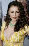 Alyssa Milano. WESTWOOD, CALIFORNIA. Monday May 22, 2006. Alyssa Milano at the World Premiere of `The Break-Up` held at the Mann Village Theatre in Westwood Royalty Free Stock Images