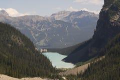 Alza de Lake Louise Foto de archivo