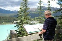Alza de Lake Louise Foto de archivo libre de regalías
