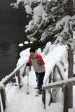 Alza del invierno en Finlandia Fotos de archivo libres de regalías