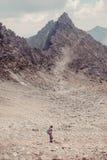 Alza en las altas montañas Imagen de archivo
