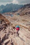 Alza en las altas montañas Fotos de archivo libres de regalías
