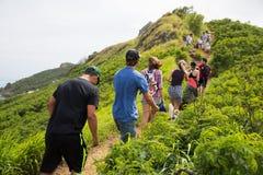 Alza Kailua Oahu Hawaii de los fortines de Lanakai Fotografía de archivo libre de regalías