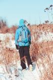 Alza a través de prados en el invierno Fotos de archivo libres de regalías