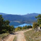 Alza a Troglav (Croatia) Foto de archivo