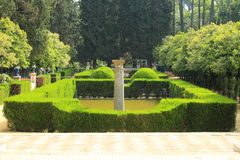 Alzacar garden in Seville Royalty Free Stock Photos