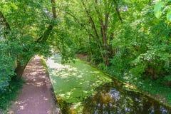 Alzaia del canale del Delaware, nuova speranza, PA fotografie stock