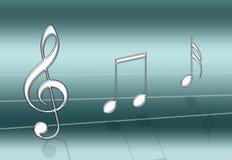 Alzavola di musica Illustrazione di Stock