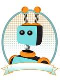 Alzavola e stile arancione dell'annuncio di prodotto del ritratto del robot Fotografie Stock Libere da Diritti