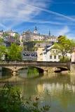 Alzette flod i Luxembourg Royaltyfria Foton