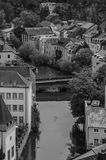 Alzette III. A picture of the Alzette river and bridge in the Gronn valley (Luxembourg City Stock Photos