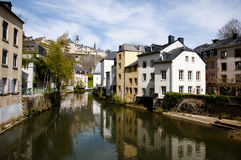 Alzette River - Luxembourg City Stock Photos