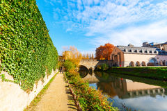 At the Alzette river in Luxembourg City Royalty Free Stock Images