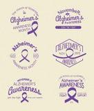 Alzheimer świadomości miesiąc Zdjęcia Stock