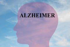 Alzheimer - νευρολογική έννοια Στοκ Φωτογραφία