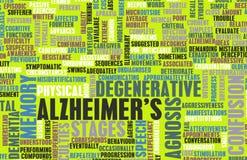 Alzheimer иллюстрация штока