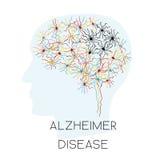 Alzheimer choroby pojęcie Obrazy Stock