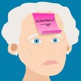 alzheimer kobieta nutowa starsza kleista Fotografia Stock