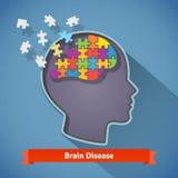 Alzheimer móżdżkowa choroba, umysłowy problemu pojęcie royalty ilustracja