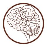 Alzheimer m?zg symbol ilustracji