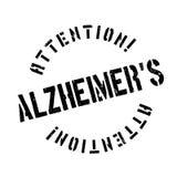 Alzheimer pieczątka Zdjęcia Royalty Free