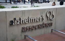 Alzheimer`s Association. The Alzheimer`s Association was founded by Jerome H. Stone with the help of several family members in Chicago, Illinois and incorporated stock photo