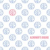 Alzheimer ` s choroby mózg plakat ilustracji