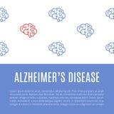 Alzheimer ` s choroby plakat royalty ilustracja
