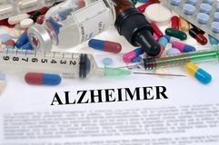 Alzheimer ` s choroby pojęcie zdjęcia stock