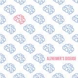 Alzheimer ` s choroby wzoru plakat Obraz Royalty Free