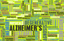 Alzheimer's. Or Dementia as a Medical Condition stock illustration