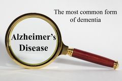 Alzheimer`s Disease Concept royalty free stock images