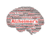 Alzheimer's disease symbol message concept Stock Images