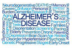 Alzheimer's Disease Word Cloud Royalty Free Stock Photo