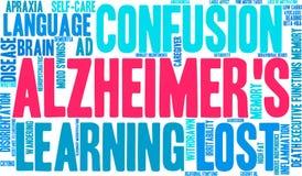 Alzheimer ` s słowa chmura Obraz Stock