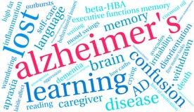 Alzheimer ` s słowa chmura Obrazy Stock