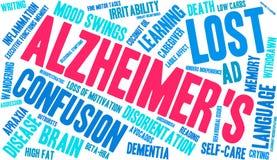 Alzheimer ` s słowa chmura Zdjęcia Stock