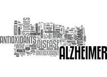 Alzheimer-Sorgfalt-Wort-Wolke Lizenzfreies Stockfoto