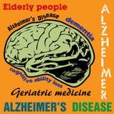 Alzheimers choroba royalty ilustracja