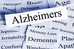 Alzheimers Concept Horizontal stock photography
