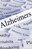 Alzheimers Concept in words stock images