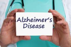 Alzheimers disease Alzheimer Alzheimer's ill illness healthy hea Royalty Free Stock Image