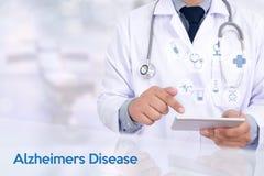 Alzheimers Disease concept , Brain degenerative diseases Parkin. Son royalty free stock photo