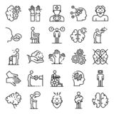 Alzheimers disease icons set, outline style. Alzheimers disease icons set. Outline set of alzheimers disease vector icons for web design isolated on white vector illustration