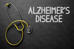 Alzheimers Disease - Text on Chalkboard. 3D Illustration. Medical Concept: Alzheimers Disease - Text on Black Chalkboard with Yellow Stethoscope. Medical stock photos