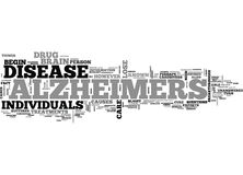 Alzheimers Disease Word Cloud. ALZHEIMERS DISEASE TEXT WORD CLOUD CONCEPT royalty free illustration