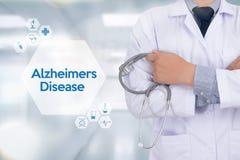 Alzheimers-Krankheitskonzept, Gehirndegenerative erkrankungen Parkin stockfotos