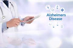 Alzheimers-Krankheitskonzept, Gehirndegenerative erkrankungen Parkin lizenzfreie stockbilder
