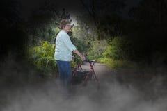 Alzheimers sjukdom, demens, Eldery, hög kvinna royaltyfri fotografi