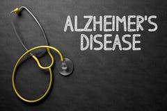 Alzheimers sjukdom - text på den svart tavlan illustration 3d arkivfoton